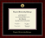 Loyola University Chicago Diploma Frame - Gold Engraved Medallion Diploma Frame in Sutton