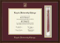 Loyola University Chicago Diploma Frame - Tassel Edition Diploma Frame in Delta