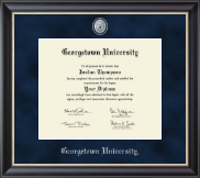 Georgetown University Diploma Frame - Regal Edition Diploma Frame in Noir