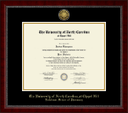 University of North Carolina Eshelman School of Pharmacy Diploma Frame - Gold Engraved Medallion Diploma Frame in Sutton