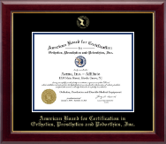 American Board for Certification in Orthotics, Prosthetics & Pedorthics Diploma Frame - Gold Embossed Diploma Frame in Gallery