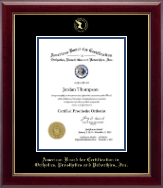 Vertical- Gold Embossed Diploma Frame