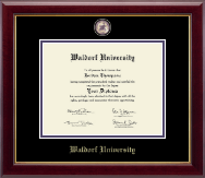 Waldorf University Diploma Frame - Masterpiece Medallion Diploma Frame in Gallery