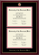 University of the Incarnate Word Diploma Frame - Masterpiece Medallion Double Diploma Frame in Gallery
