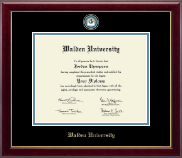 Walden University Diploma Frame - Masterpiece Medallion Diploma Frame in Gallery