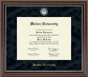 Walden University Diploma Frame - Regal Edition Diploma Frame in Chateau