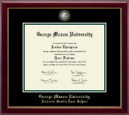 George Mason University Antonin Scalia Law School Diploma Frame - Masterpiece Medallion Diploma Frame in Gallery