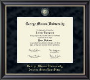 George Mason University Antonin Scalia Law School Diploma Frame - Regal Edition Diploma Frame in Noir