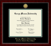 George Mason University Antonin Scalia Law School Diploma Frame - Gold Engraved Medallion Diploma Frame in Sutton