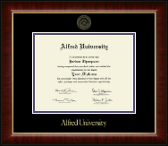 Alfred University Diploma Frame - Gold Embossed Diploma Frame in Murano