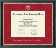 University of the Incarnate Word Diploma Frame - Regal Edition Diploma Frame in Noir