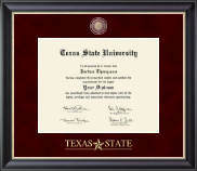 Texas State University Diploma Frame - Regal Edition Diploma Frame in Noir