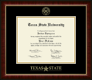 Texas State University Diploma Frame - Gold Embossed Diploma Frame in Murano