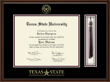 Texas State University Diploma Frame - Tassel Edition Diploma Frame in Delta