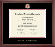 Southern Virginia University Diploma Frame - Masterpiece Medallion Diploma Frame in Kensington Gold