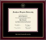 Southern Virginia University Diploma Frame - Gold Embossed Diploma Frame in Gallery
