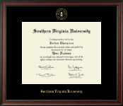 Southern Virginia University Diploma Frame - Gold Embossed Diploma Frame in Studio