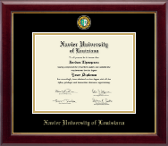 Xavier University of Louisiana Diploma Frame - Masterpiece Medallion Diploma Frame in Gallery
