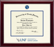 University of North Florida Diploma Frame - Dimensions Diploma Frame in Gallery Silver