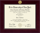 SUNY Morrisville Diploma Frame - Century Gold Engraved Diploma Frame in Cordova