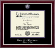 University of Washington Diploma Frame - Masterpiece Medallion Diploma Frame in Gallery Silver