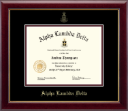 Alpha Lambda Delta Certificate Frame - Gold Embossed Certificate Frame in Gallery