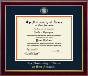 The University of Texas San Antonio Diploma Frame - Masterpiece Medallion Diploma Frame in Gallery