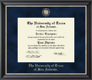The University of Texas San Antonio Diploma Frame - Regal Edition Diploma Frame in Noir