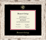 Howard College - Big Springs Diploma Frame - Gold Embossed Diploma Frame in Barnwood White