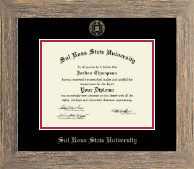 Sul Ross State University Diploma Frame - Gold Embossed Diploma Frame in Barnwood Gray
