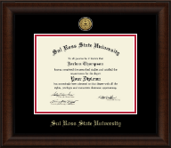 Sul Ross State University Diploma Frame - Gold Engraved Medallion Diploma Frame in Lenox