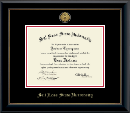 Sul Ross State University Diploma Frame - Gold Engraved Medallion Diploma Frame in Onyx Gold