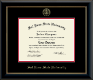 Sul Ross State University Diploma Frame - Gold Embossed Diploma Frame in Onyx Gold