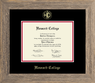 Howard College - San Angelo Diploma Frame - Gold Embossed Diploma Frame in Barnwood Gray