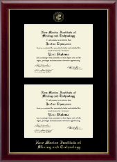 New Mexico Institute of Mining & Technology Diploma Frame - Double Diploma Frame in Gallery