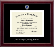 University of North Florida Diploma Frame - Masterpiece Medallion Diploma Frame in Gallery Silver
