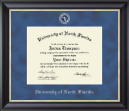 University of North Florida Diploma Frame - Regal Edition Diploma Frame in Noir