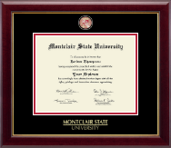 Montclair State University Diploma Frame - Masterpiece Medallion Diploma Frame in Gallery