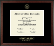 Montclair State University Diploma Frame - Gold Embossed Diploma Frame in Studio