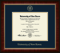 University of New Haven Diploma Frame - Gold Embossed Diploma Frame in Murano