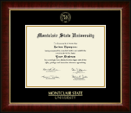 Montclair State University Diploma Frame - Gold Embossed Diploma Frame in Murano