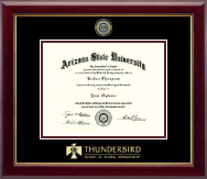 Arizona State University Diploma Frame - Masterpiece Medallion Diploma Frame in Gallery