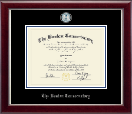 The Boston Conservatory at Berklee Diploma Frame - Masterpiece Medallion Diploma Frame in Gallery Silver