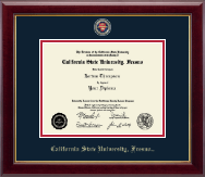 California State University Fresno Diploma Frame - Masterpiece Medallion Diploma Frame in Gallery