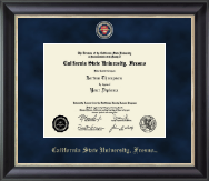 California State University Fresno Diploma Frame - Regal Edition Diploma Frame in Noir
