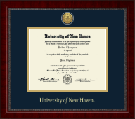 University of New Haven Diploma Frame - Gold Engraved Medallion Diploma Frame in Sutton