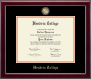 Hendrix College Diploma Frame - Masterpiece Medallion Diploma Frame in Gallery