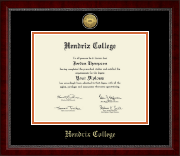 Hendrix College Diploma Frame - Gold Engraved Medallion Diploma Frame in Sutton