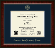 California State University Fresno Diploma Frame - Gold Embossed Diploma Frame in Murano