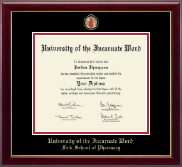 University of the Incarnate Word Diploma Frame - Masterpiece Medallion Diploma Frame in Gallery